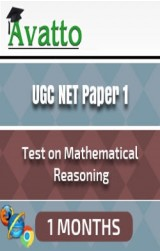 UGC NET Paper1 Test on Mathematical Reasoning 1 by Avatto