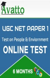 UGC NET Paper1 Test on People & Enviornment 6 by Avatto