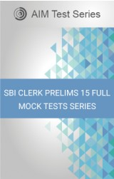 SBI Clerk Prelims 15 Full Mock Tests Series