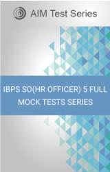 IBPSSO(HROfficer)5FullMockTests Series
