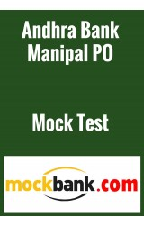 Andhra Bank Manipal PO Mock Test Series ( 2 Tests) by Mockbank in English