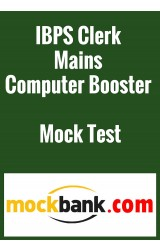 IBPS Clerk Mains Computer Booster Mock Test Series (3 Tests) by Mockbank in English