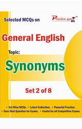 Selected MCQs on English - Synonyms Set 2 of 7