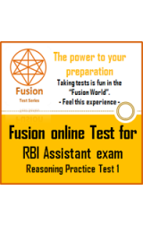 RBI Assistant Exam  Reasoning Practice Test by Fusion Test Series - Online Test