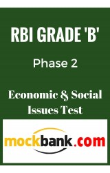 RBI Grade B Phase 2 - Economic and Social Issues Mock Test By Mockbank in English - Online Test