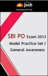 SBI PO Exam Model Practice Set 1 General Awareness - Online Test
