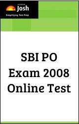 SBI PO Exam Paper 2008 - Online Test