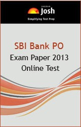 SBI Bank PO Exam Paper 2013 - Online Test