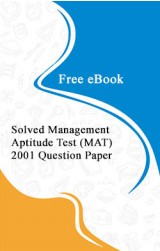 Solved Management Aptitude Test (MAT) 2001 Question Paper Free eBook