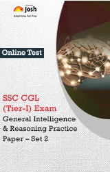 SSC CGL (Tier-I) Exam: General Intelligence & Reasoning: Practice Paper (Set-2) Online Test