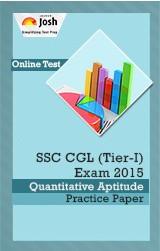 SSC CGL (Tier-I) Exam 2015: Quantitative Aptitude: Practice Paper - Online Test