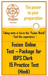 Test Package:IBPS Clerk 15 Practice Test(Hindi)
