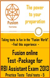 Test Package - RBI Assistant Exam 2013 Practice Tests