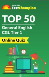 Top 50 General English CGL Tier 1 Online Quiz