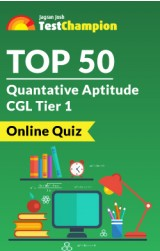 Top 50 Quantative Aptitude CGL Tier 1 Online Quiz