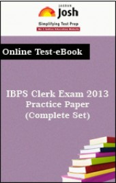 IBPS Clerk Exam 2013: Practice Paper(Complete Set) Online Test-eBook