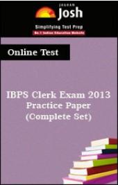 IBPS Clerk Exam 2013:Practice Paper (Complete Set) Online Test
