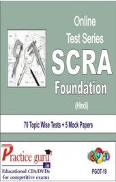 Practice Guru SCRA Foundation , 70 Topic Wise Tests 5 Mock Papers Hindi Online Test