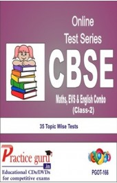 Practice Guru Class 2 - Maths, EVS & English Combo , 35 Topic Wise Tests English Online Test