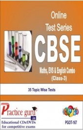 Practice Guru Class 3 - Maths, EVS & English Combo , 35 Topic Wise Tests English Online Test