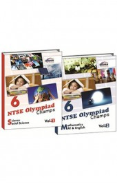 NTSE-NMMS/ OLYMPIADS Champs Class 6 Science/ Social Science/ Maths/ Mental Ability/ English Vol 1 & 2
