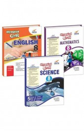 Olympiad Champs Science, Mathematics, English Class 8 with 15 Mock Online Olympiad Tests (Set of 3 Books) 2nd Edition