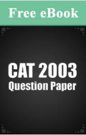 CAT 2003 Question Paper free eBook