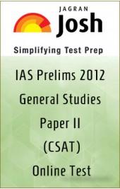 IAS Prelims 2012 General Studies Paper II , CSAT