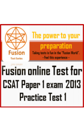 CSAT paper 2 Exam 2013 practice test 1 by Fusion Test Series – Online Test.