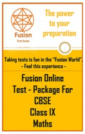 Fusion Online Test Package for CBSE Class IX Maths