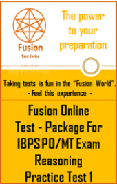 IBPS PO/MT Exam Reasoning Practice Test 1