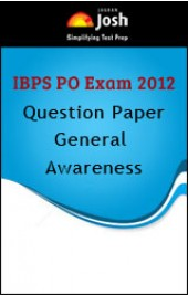 IBPS PO Exam 2012 Question Paper: General Awareness - Online Test