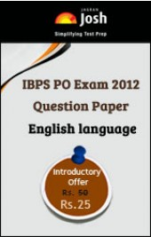 IBPS PO Exam 2012 Question Paper English language - Online Test