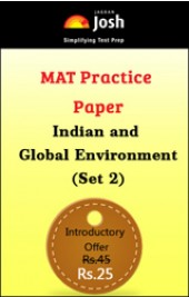 MAT Practice Paper: Indian and Global Environment (Set 2) - Online Test