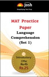 MAT Practice Paper: Language Comprehension (Set 1) - Online Test