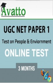 UGC NET Paper1 Test on People & Enviornment 3 by Avatto