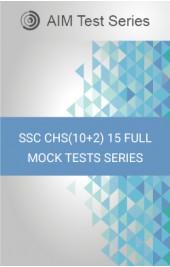SSCCHS(10+2)15FullMockTests Series