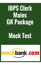 IBPS Clerk Mains GK Package Mock Test Series (3 Tests) by Mockbank in English