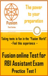 RBI Assistant Exam Full Practice Test 1 by Fusion Test Series - Online Test