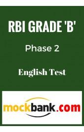 RBI Grade B Phase 2 - English Mock Test By Mockbank in English - Online Test