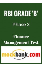 RBI Grade B Phase 2 - Finance Management Mock Test By Mockbank in English - Online Test