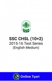 SSC CHSL(10+2) 2015-16 Test Series