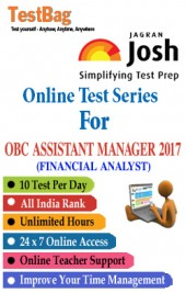 OBC Assistant Manager (Financial Analyst (Oriental  Bank Of  Commerce  Recruitment  Exam))