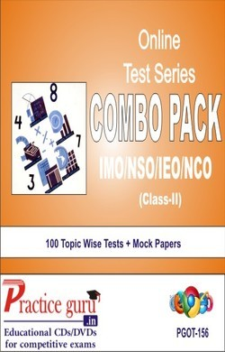 Practice Guru Class 2 - Combo Pack (IMO / NSO / IEO / NCO) , 100 Topic Wise Tests Mock Papers English Online Test