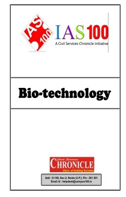 Biotechnology For IAS Mains English