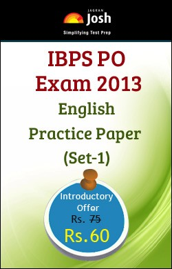 IBPS PO Exam 2013 English Practice Paper - Set 1