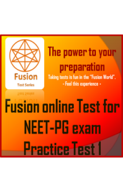 NEET PG practice test 1 by Fusion Test Series (Online Test)