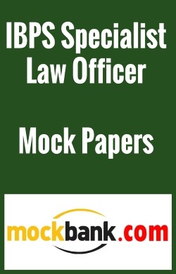 IBPS Specialist Law Officer (Scale -I) - Series of 3 By Mockbank in English