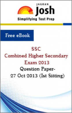 SSC Combined Higher Secondary Exam 2013: Question Paper- 27 Oct 2013 (Ist Sitting)